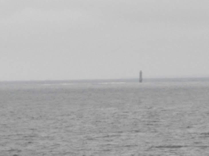 貝殻島灯台。もうロシアの統治下と思うと不思議な気分になる。