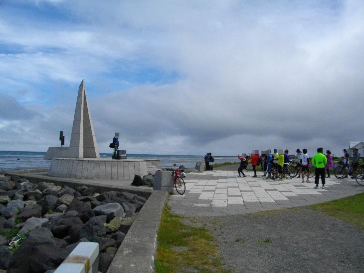 大行列の日本最北端の碑