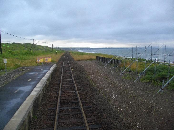 海が見える北浜駅